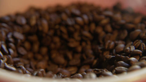 Scooped Coffee Beans Live Action