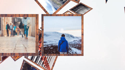Wood Frames Gallery After Effects Template