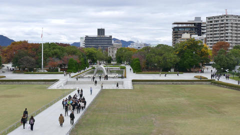 Hiroshima Peace Memorial Park UNESCO World Heritage Site In Japan Footage