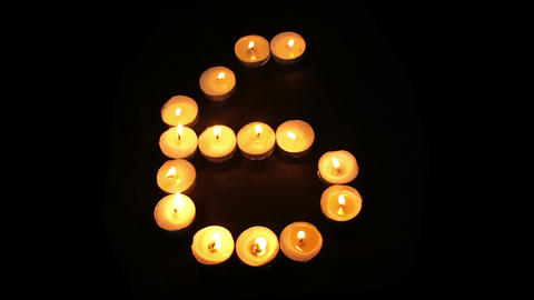 Countdown Timer With Tealight Candles Footage