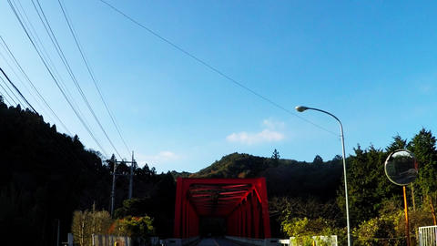 Continuous red bridge Footage