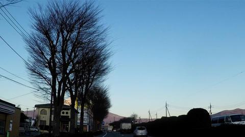 An urban area where Mt. Fuji can be seen Footage