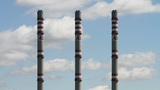 AES Energy Factory Towers Clouds Timelapse Footage