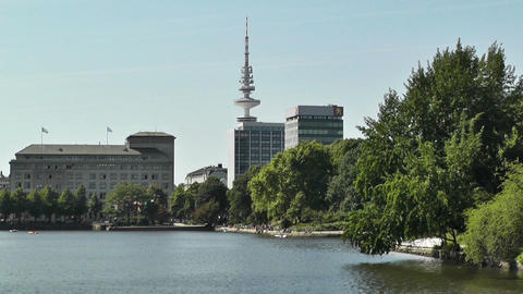 Alster Hamburg 02 Stock Video Footage