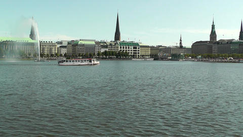 Alster Hamburg 04 Stock Video Footage