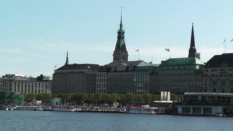Alster Hamburg 08 Stock Video Footage