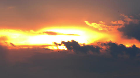 Dramatic Clouds Sunset Timelapse 01 Stock Video Footage