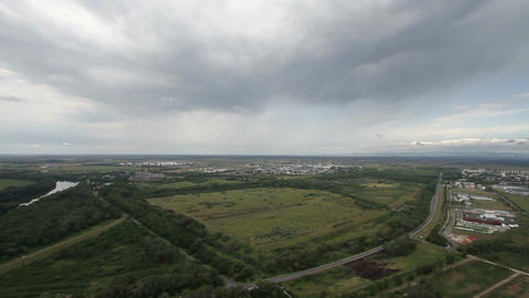 Factory Aerial View 03 pan Stock Video Footage