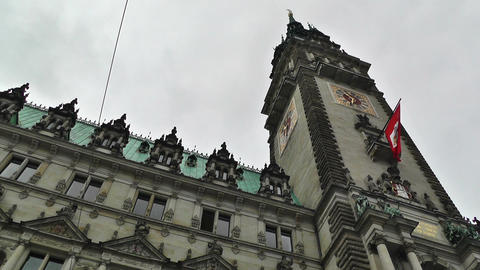 Hamburg City Hall 08 Stock Video Footage