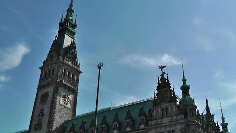 Hamburg City Hall 10 Stock Video Footage