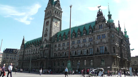 Hamburg City Hall 12 Stock Video Footage
