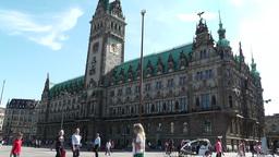 Hamburg City Hall 12 Stock Video Footage