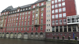 Hamburg Downtown 02 canal Stock Video Footage