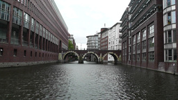 Hamburg Downtown 03 canal Stock Video Footage