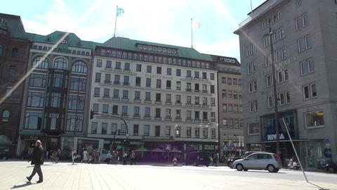 Hamburg Downtown 05 Stock Video Footage