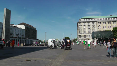 Hamburg Downtown 09 pan Stock Video Footage