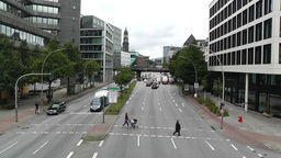 Hamburg Street 02 Stock Video Footage