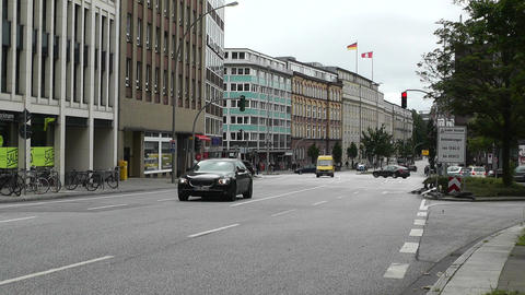 Hamburg Street 04 traffic Stock Video Footage