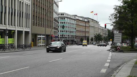 Hamburg Street 04 traffic Stock Video Footage