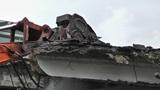Machine Destroying Building 02 Footage