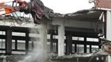 Machine Destroying Building 04 Footage