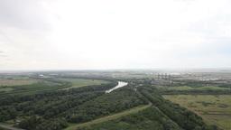 Plain in Eastern Europe 03 industrial Stock Video Footage