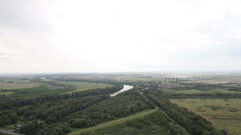 Plain in Eastern Europe 03 industrial Footage