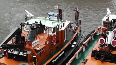 Port of Hamburg 06 ships Stock Video Footage