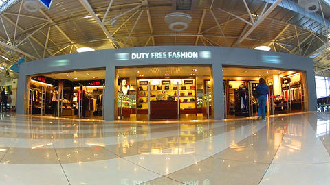duty free b 1 Stock Video Footage