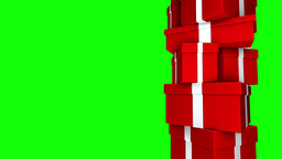 Pile of Gifts Red (Loop on Green Screen) Animation