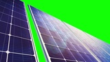 Solar Panels Panorama (Loop On Green Screen) stock footage