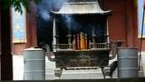 Burning incense in Incense burner,Wind of smoke Footage