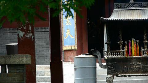 Burning incense in Incense burner,Wind of smoke Stock Video Footage