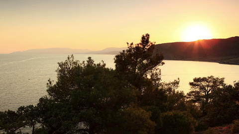 Timelapse sunset in the mountains. Noviy Svet, Crimea,... Stock Video Footage