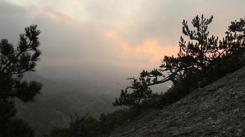 Timelapse sunrise in the mountains. Noviy Svet, Crimea,... Stock Video Footage