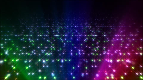 LED Light Space Hex 4q A 5 HD Stock Video Footage