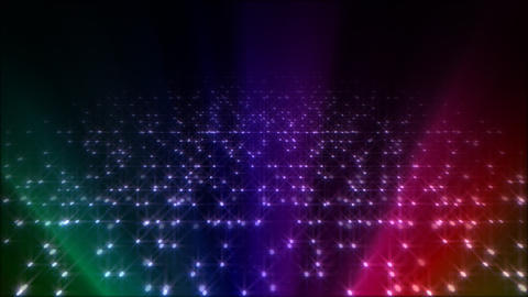 LED Light Space Hex 4q C 5 HD Stock Video Footage