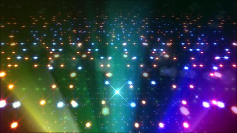 LED Light Space Hex 4q E 3f HD Stock Video Footage