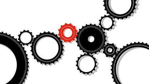 Gears, seamless loop Stock Video Footage