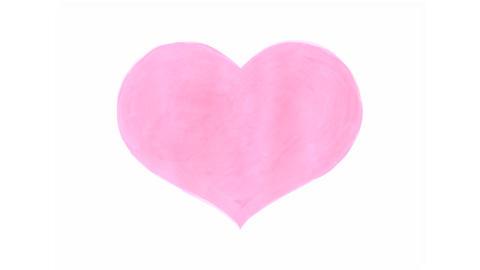 Handwritten heart Stock Video Footage