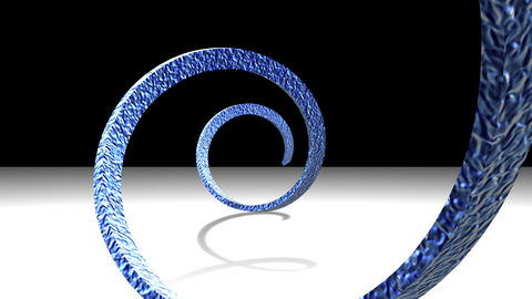 Blue Spiral 02 Stock Video Footage