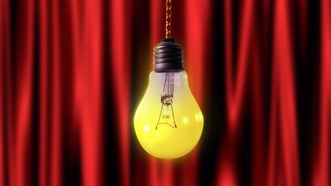 Bulb light pendulum with alpha Stock Video Footage