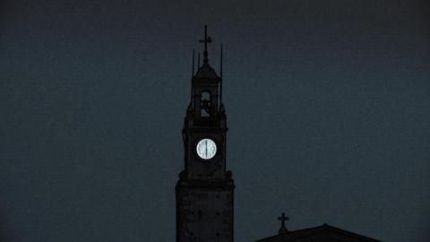 church clock 01 Stock Video Footage