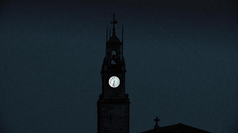 church clock 01 Stock Video Footage
