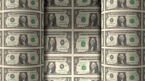 Dollar Rolls 02 Stock Video Footage