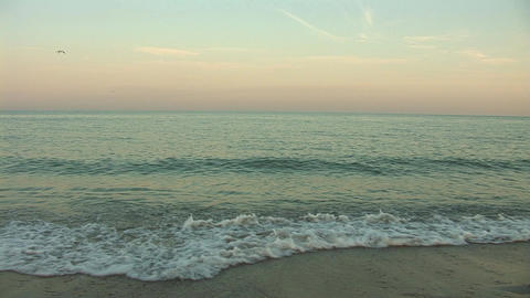 sunset waves Stock Video Footage