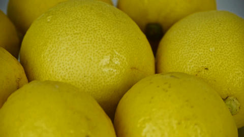 A set of fresh lemon fruit vegetables Stock Video Footage