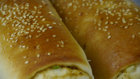 Rotation of delicious bread Stock Video Footage