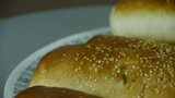 Rotation of delicious bread Footage