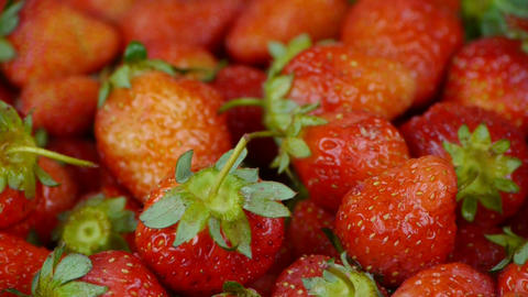 Rotation of delicious strawberry Stock Video Footage